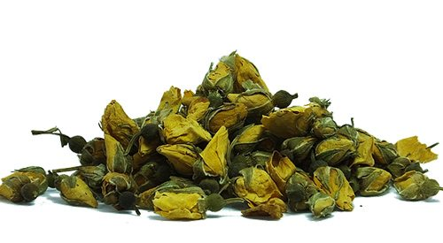 yellow dried roses