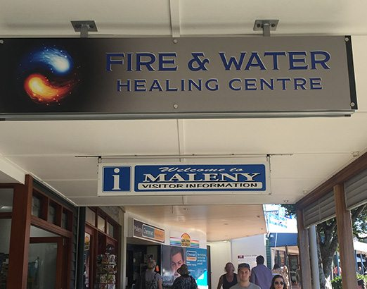 Maleny Healing Centre sign